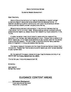 Guidance Needs Assessment