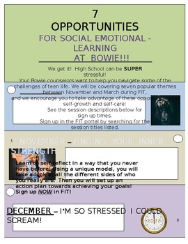 Guidance Social Emotional Learning Flyer