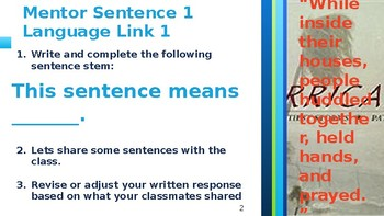 Guide Books 2.0 Hurricanes Mentor Sentence Powerpoint