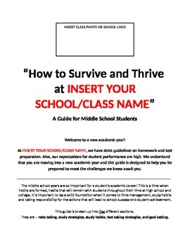 Guide - How to Survive and Thrive in Middle School
