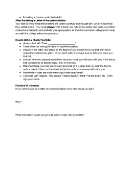 Guide: Letters of Recommendation