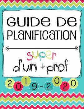 Guide Planificateur / Agenda pour Enseignant - PRIMAIRE 6 périodes (3AM & 3PM)