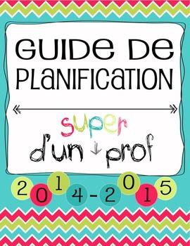 Guide Planificateur / Agenda pour Enseignant - SECONDAIRE 4 périodes (2AM & 2PM)