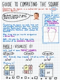 Guide To Completing the Square - Reference sheet