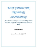 Guide To Treating Stuttering or Increasing Fluency In Speech Therapy