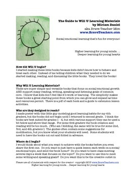 Guide To Using Will U Learning Materials for Social/Emotional Development