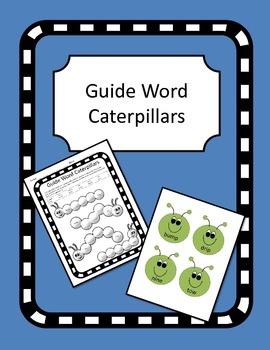 Guide Word Caterpillars
