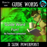 Guide Words PowerPoint Lesson