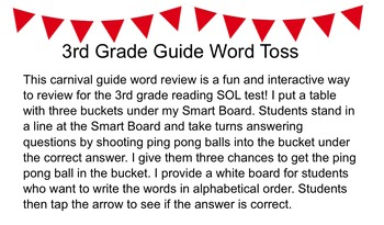 Guide Word Game - Reading SOL Review