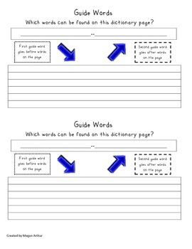 Guide Word Graphic Organizer