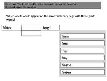 Guide Word Practice/TEI/Virginia SOLs