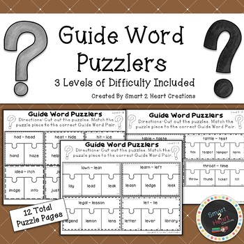 Guide Word Puzzlers