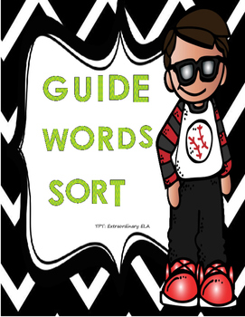 Guide Word Sort (Dictionary Skills and Alphabetizing Centers)