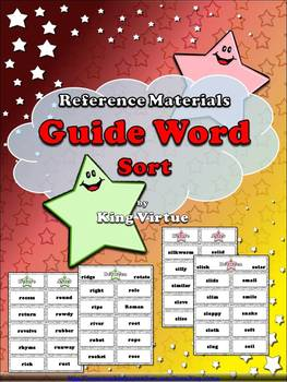 Reference Materials - Guide Word Sort - Guide Words - King Virtue