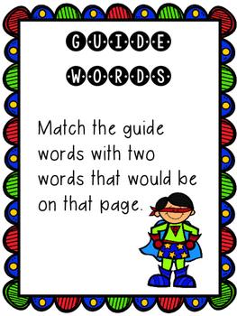 Guide Word Superhero Center