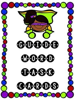 Guide Word Superhero Task Cards