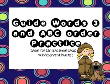 Guide Word and ABC Order #3