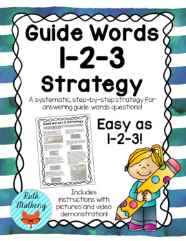 Guide Words 1-2-3 Strategy {FREEBIE}