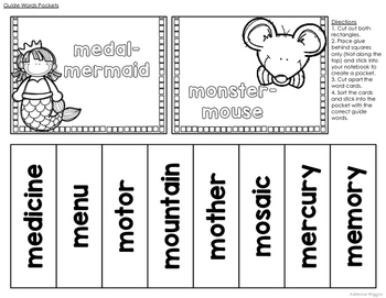 Guide Words Activity Pack
