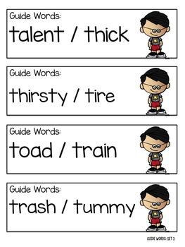 Guide Words BUNDLE Part I & II