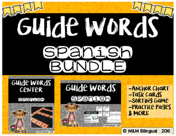 Guide Words BUNDLE {SPANISH}