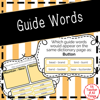 Guide Words Boom Cards
