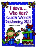 Guide Words Dictionary Skill - I Have...Who Has?  Elves