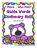 Guide Words Dictionary Skill - I Have...Who Has? Spring Bear