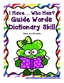 Guide Words Dictionary Skill - I Have...Who Has? St. Patrick's Day