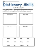 Guide Words Dictionary Work