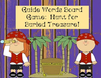 Guide Words Game-Hunt for Buried Treasure!
