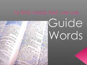 Guide Words Introduction