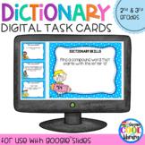 Dictionary Skills Digital Task Cards for Google Slides (Set A)