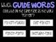 Guide Words Practice