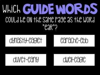 Guide Words Practice