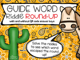 Guide Words Round Up {Riddle Series}