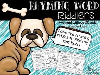 Rhyming Word Riddlers {Riddle Series}