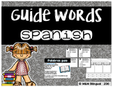 Guide Words {SPANISH}