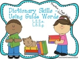 Guide Words Scoot - Using a Dictionary - Common Core