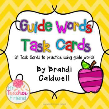 Guide Words Task Cards
