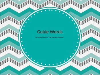 Guide Words: Where Does That Belong?