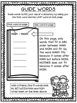 Guide Words for 2nd, 3rd and 4th grade