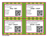 Guide Words for Dictionary or Glossary Practice QR Codes a