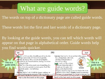 Guide Words in a Dictionary Powerpoint