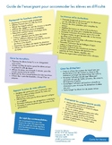 Guide de l'enseignant pour accommoder les élèves en difficulté