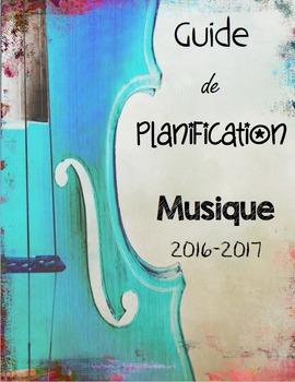 Guide de planification 2016-2017 - Spécialiste de musique (6 périodes)