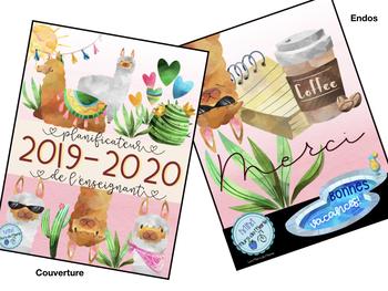 """Guide de planification 2019-2020 """"lamas à colorier"""""""