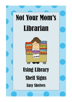 Guide for Library Shelf Signs - Easy Readers - Blue Dot