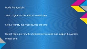 Guide for Writing a Rhetorical Analysis