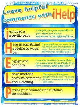 Guide for leaving Blog, GClassroom comments for peers